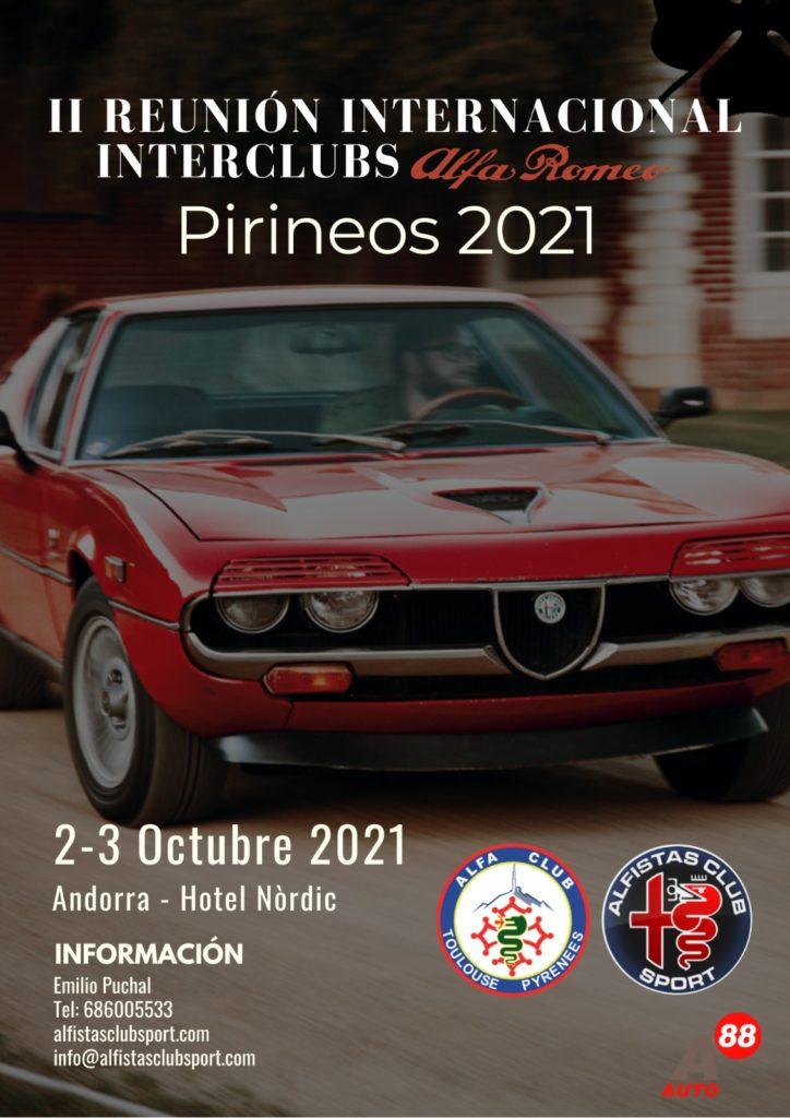 II Reunión Internacional Interclubs Alfa Romeo Pirineos 2021 @ Andorra